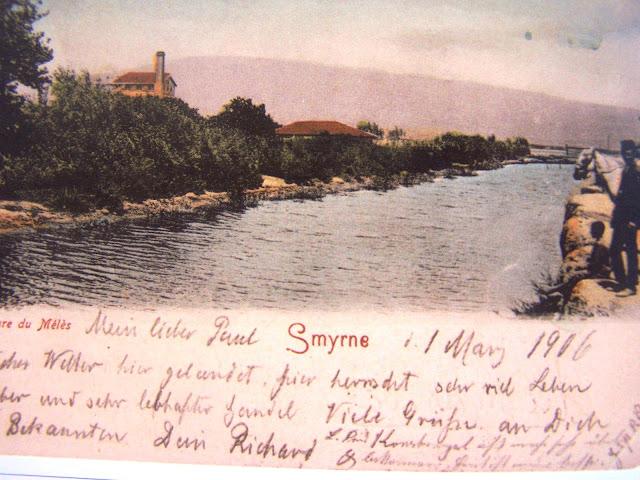 1-mayis-1906-tarihli-kartpostal-meles-cayi-ve-kiyisindaki-fabrikanin-bacalari