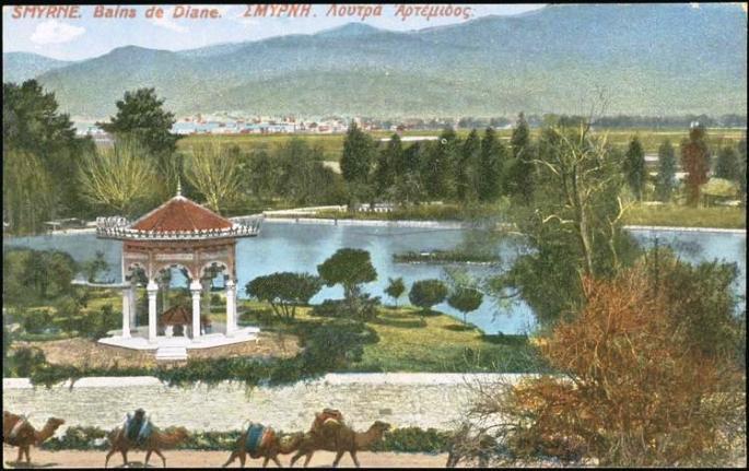 19-yuzyil-kartpostali-halkapinar-golu-ve-su-derleme-yapisi