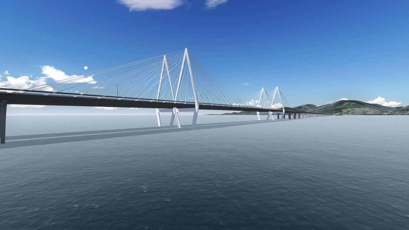 01.30 - Körfez Köprüsünün Bitmiş Durumunun Bilgisayar Ortamında Modellenmiş Görüntüleri (A)