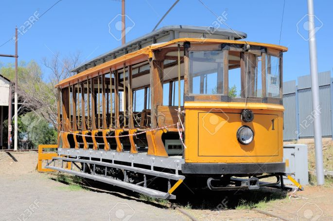 Historical electrical tram