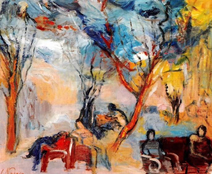 15 Cavit Atmaca, İnciraltı, 41x49 cm, Tuval Üzerine Yağlıboya
