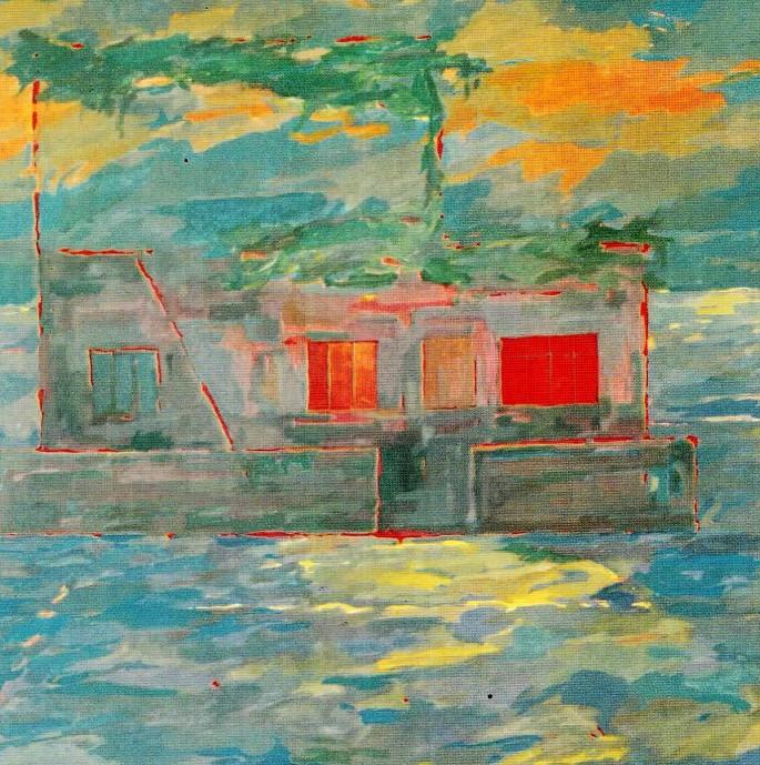 17 Sevgi Avcı, Peyzaj, 110x110 cm, Tuval Üzerine Yağlıboya (1994)