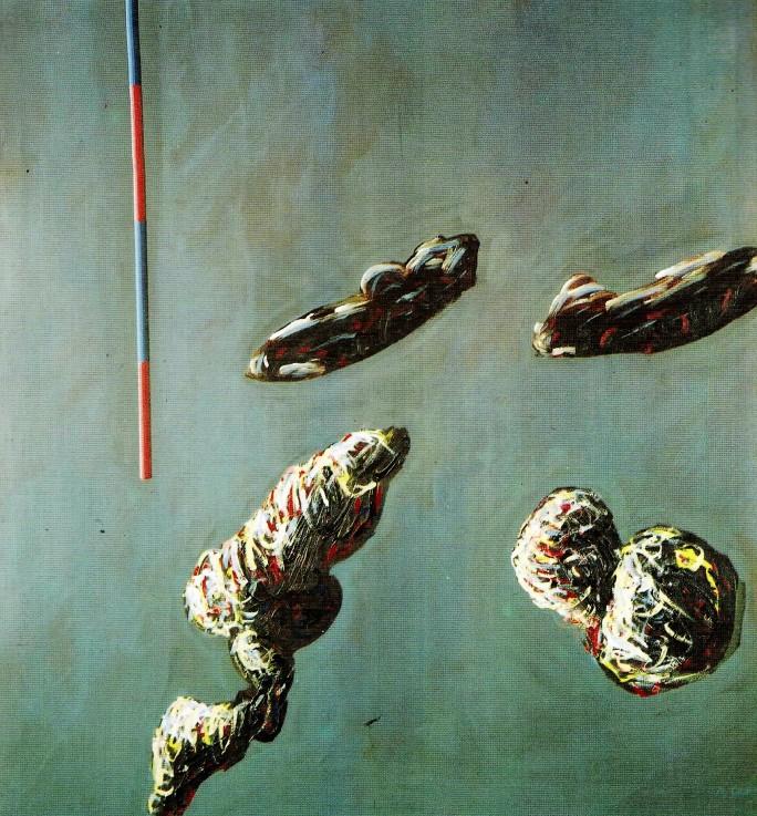 42 Adem Genç, Görsel Bir Metaforun Uzamsal Oriyentasyonu, 125x115 cm, Tuval Üzerine Akrilik
