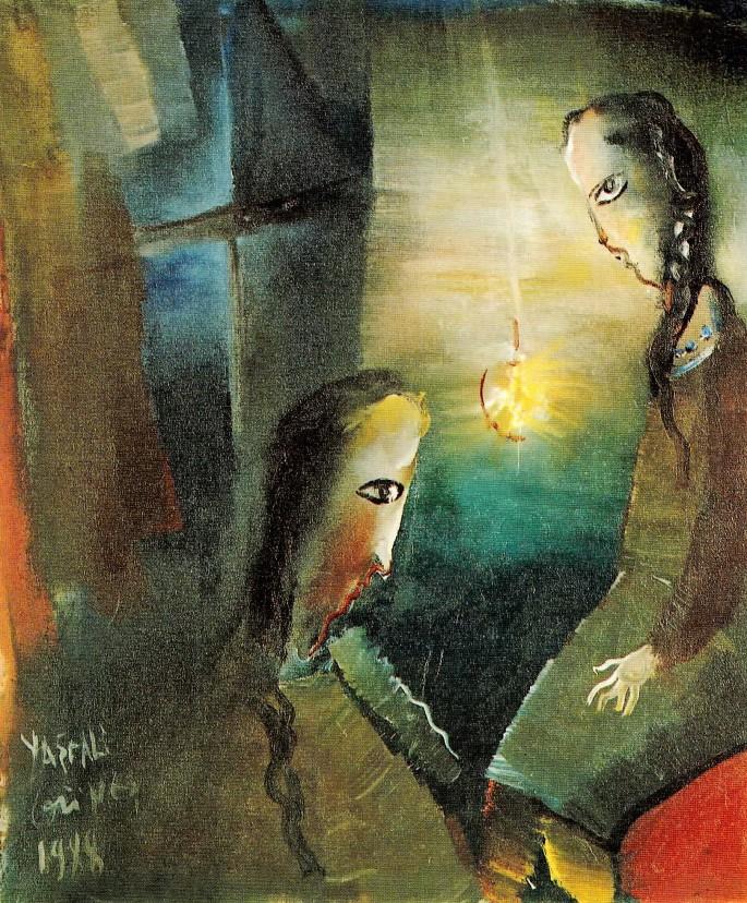 44 Yaşar Ali Güneş, Kızlar, 59x64 cm, Tuval Üzerine Yağlıboya (1988)
