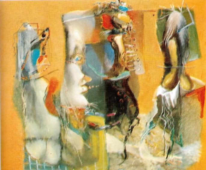 45 Yaşar Ali Güneş, İsimsiz Güzellik, 60x70 cm, Tuval Üzerine Yağlıboya (1997)