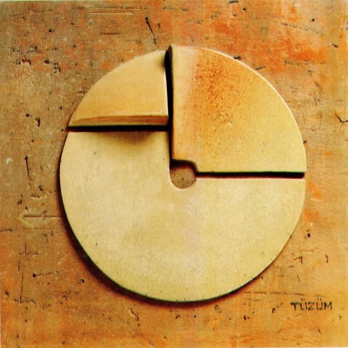 49 Mehmet Tüzüm Kızılcan, Füreya Anısına ETüd 1, 48x48 cm, Seramik