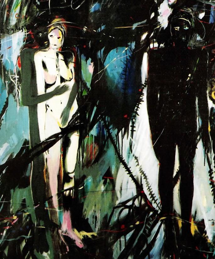 57 Umur Türker, Tören, 125x150 cm, Tuval Üzerine Akrilik (1989)