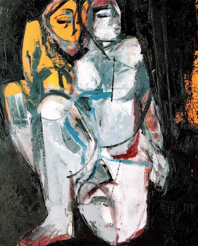 63 İsmail Yıldırım, Her Gün Cumartesi, 73x92 cm, Karışık Teknik (1996)
