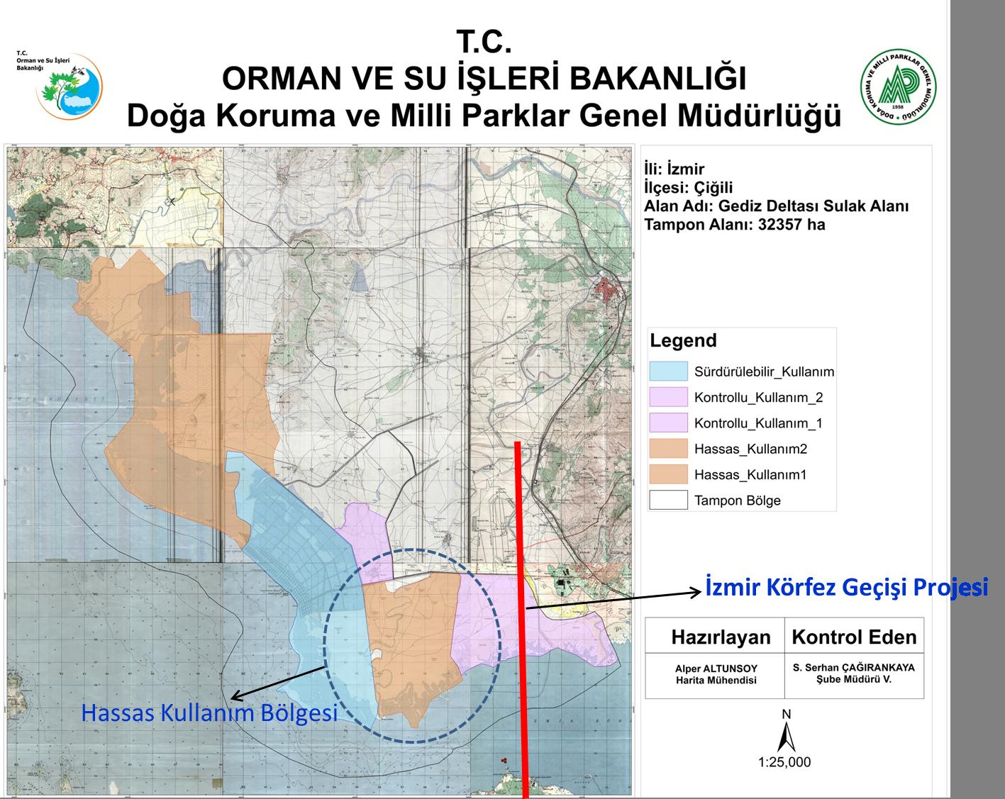Gediz Deltası Sulak Alan Koruma Bölgesi & İzmir Körfez Geçişi Projesi