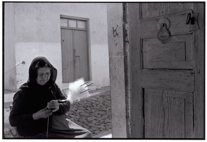 "GREECE. Crete. 1964. Woman carding wool. ""A Greek Portfolio"""
