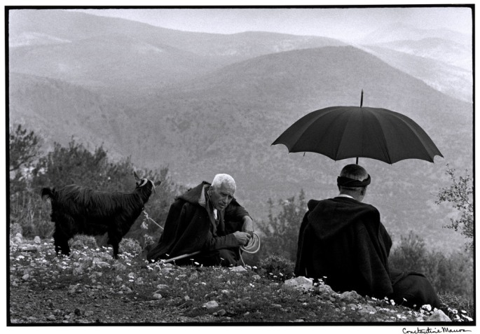 "GREECE. Crete. 1964. Shepherds with goat. ""A Greek Portfolio"""