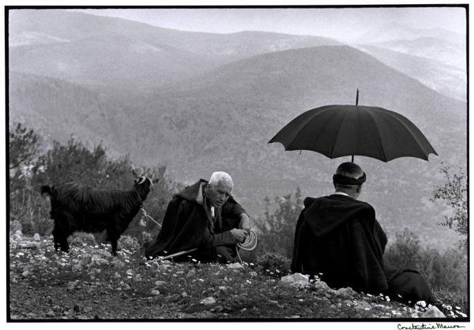 """GREECE. Crete. 1964. Shepherds with goat. """"A Greek Portfolio"""""""