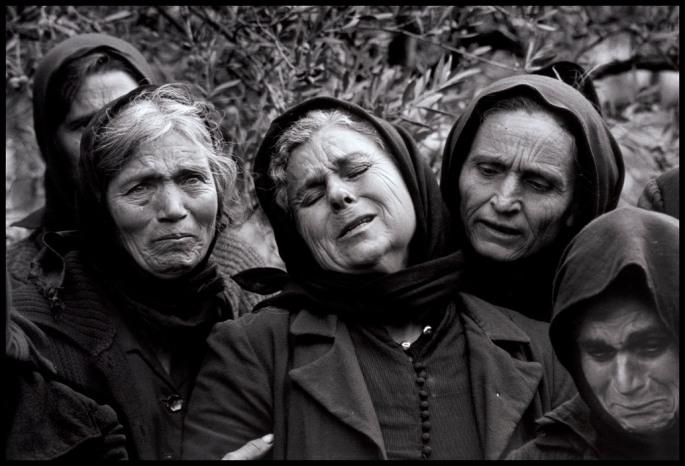 """GREECE. Mani. Pirgos Dirou. 1962. Woman at graveside. """"A Greek Portfolio"""""""