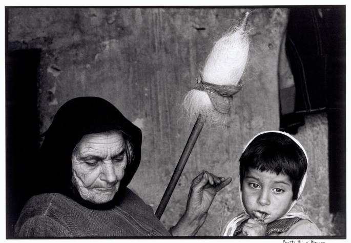 "GREECE. Crete. 1964. Grandmother with granddaughter. ""A Greek Portfolio"""