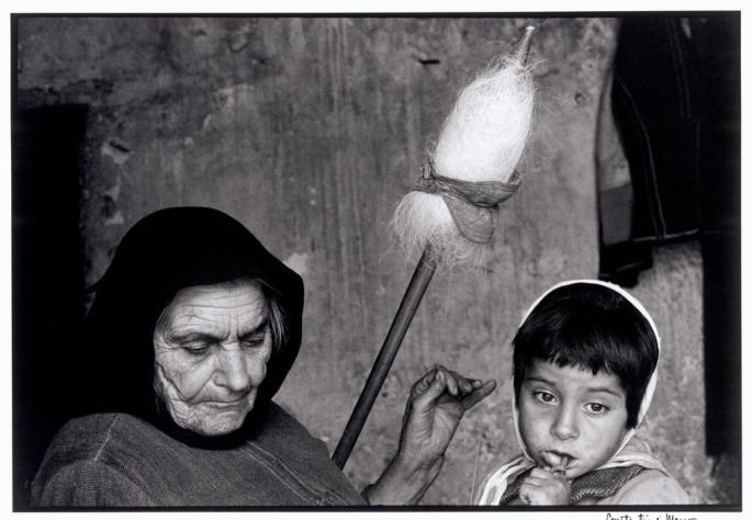 "GREECE. Crete. 1964. Grandmother with granddaughter. ""A Greek Portfolio"""
