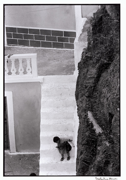 GREECE. Karpathos. Village of Olympos. 1964. Child on stairs.