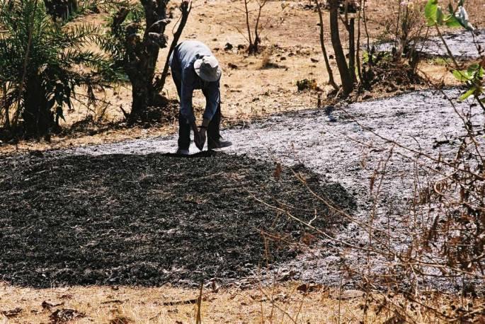 41 Making Ash Arc Warli Tribal Land Maharastra India 2003