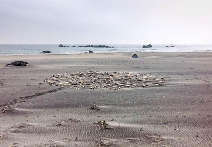 87 Tsunami Dfirftwood Circle Seven Days Walking On The Tanesashi Coast Aomori Japan 2013