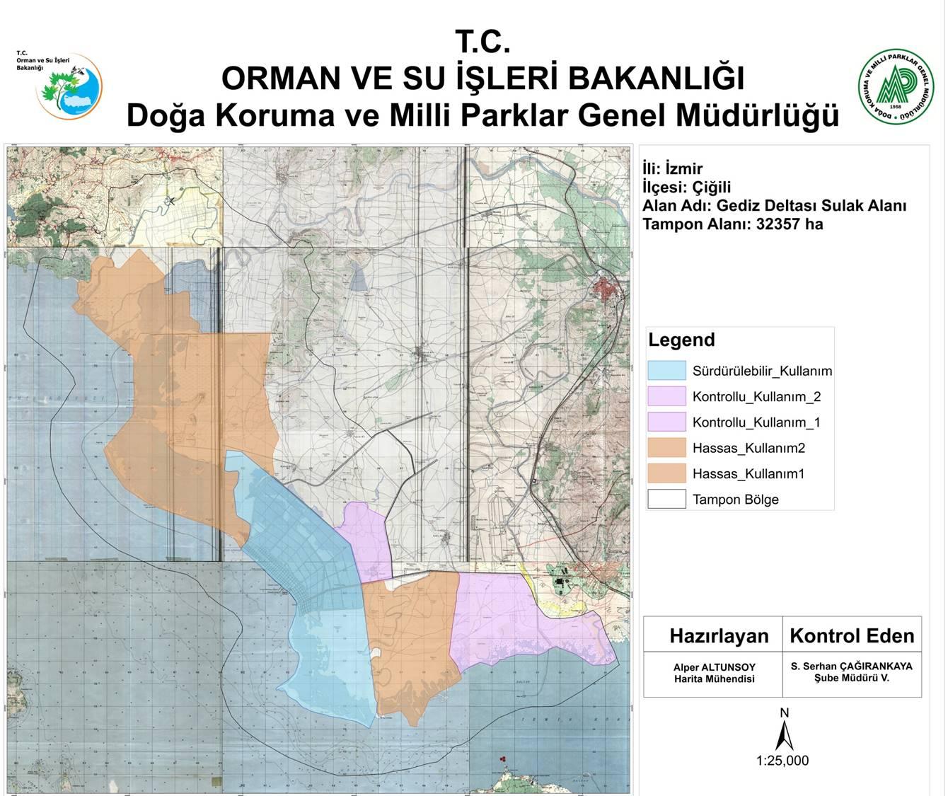 Gediz Deltası Sulak Alan Koruma Bölgesi Haritası 2017 005 (Küçük)