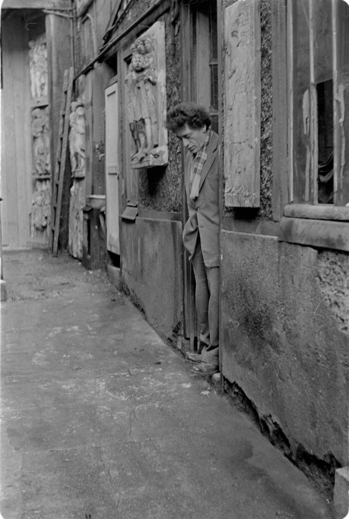Alberto Giacometti Paris'tesi Atölyesinde (1958)