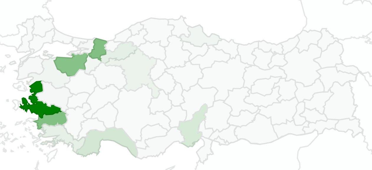Enginar İller Harita